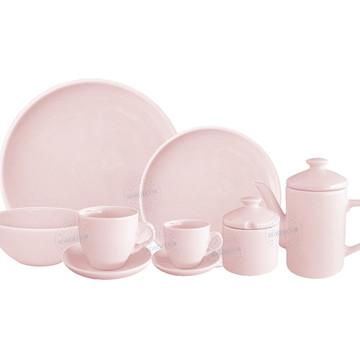 Aparelho De Jantar Rosa Completo Para 4 Pessoas