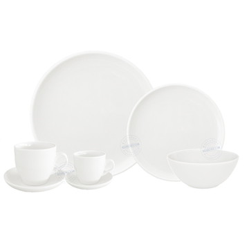 Aparelho De Jantar Branco Para 4 Pessoas - 28 Pcs