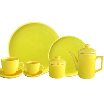 Aparelho De Jantar Amarelo Para 4 Pessoas - 26 Pcs
