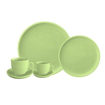 Aparelho De Jantar Verde Para 4 Pessoas - 24 Pcs