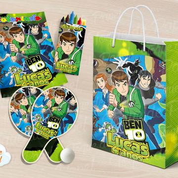 Kit Ping Pong + kit colorir Ben 10