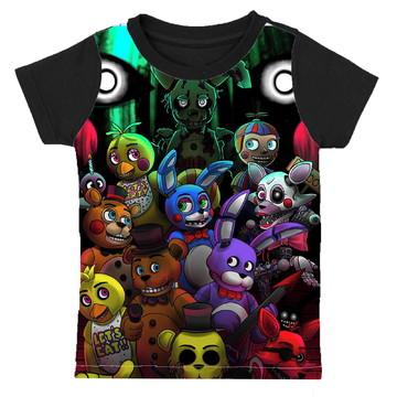 camiseta Five Nights at Freddy's estampa total infantil