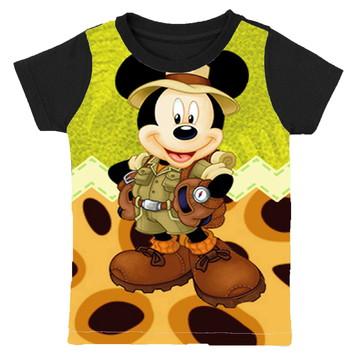 camiseta Mickey safari infantil