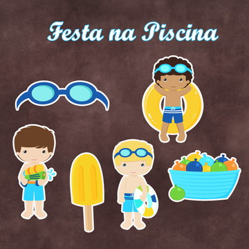 Recortes -Pool Party - Piscina - Menino