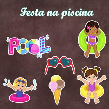 Recortes -Pool Party - Piscina - Menina