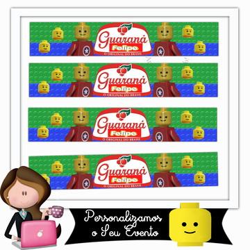 Rótulo para mini guaraná lego