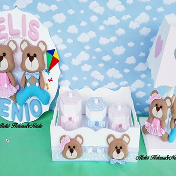 Kit Maternidade Ursinhos Gêmeos
