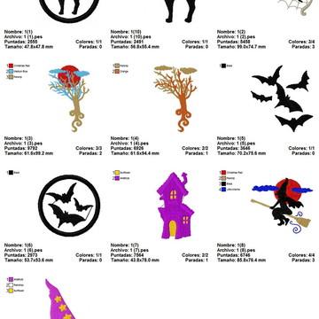Dia Das Bruxas Halloween 10 Matrizes Bastidor 10x10cm