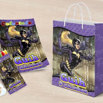 Kit colorir batgirl batman lembrancinha