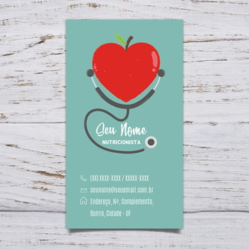 Cartão de Visita Nutricionista C/500 #NUT01