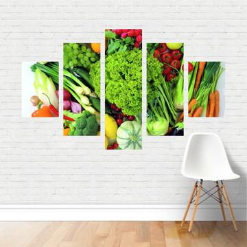 Quadro em tela Canvas - Frutas Verduras Legumes AL02C5P