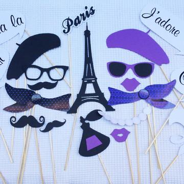 Placas Divertidas Paris Roxo