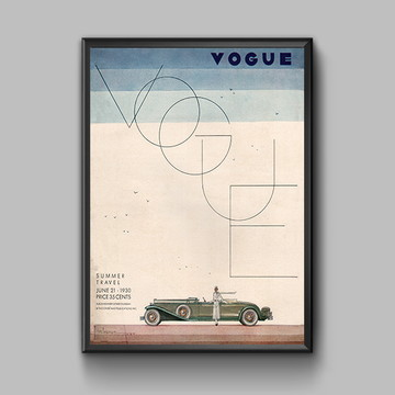 Poster Capa Vogue 1930
