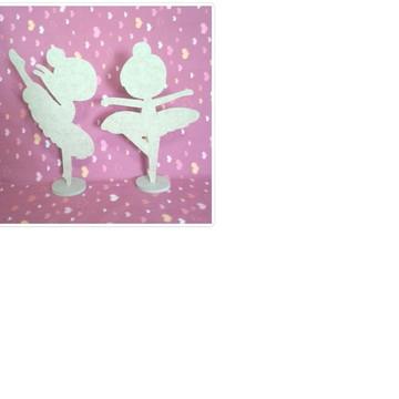 Bailarinas mdf infantil 25 cm mdf cru Lembrancinha
