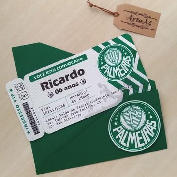 Convite Ticket Futebol Times