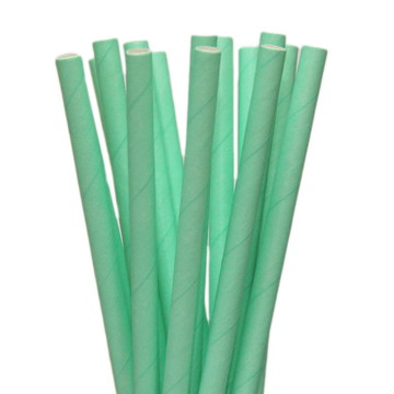 Canudos de papel -20 unidades* Verde água liso