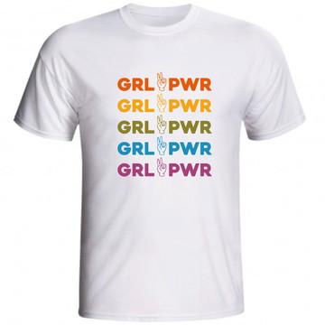 Camiseta Grl Pwr Girl Power Feminista Feminismo Mulher