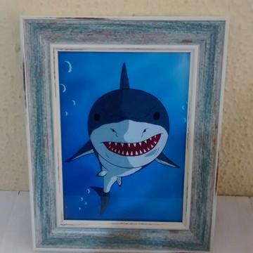 Tubarão quadro- Pronta entrega