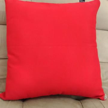 Capa de Almofada Vermelha