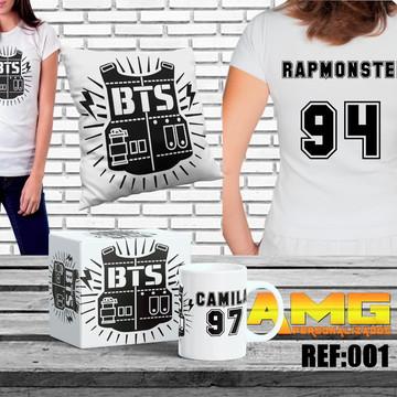 b24c105706 Kit Bts Kpop Army Bangtan Boys Caneca Almofada Camiseta Bts