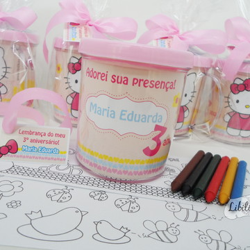 Lembrancinha Hello Kitty Kit Caneca