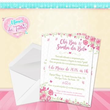 Convite Chá de Bebê Floral - DIGITAL