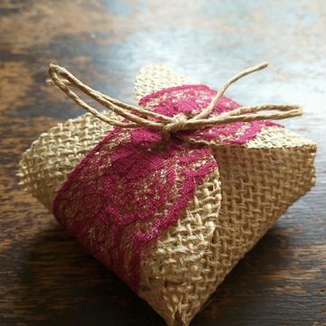 Embalagem Rústica para Bem Casado