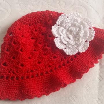 Chapéu de crochê infantil Rafaella