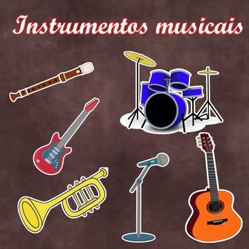 Apliques / Recortes - Instrumentos Musicais