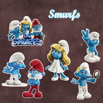 Apliques / Recortes - Os Smurfs