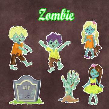 Apliques / Recortes - Zombie