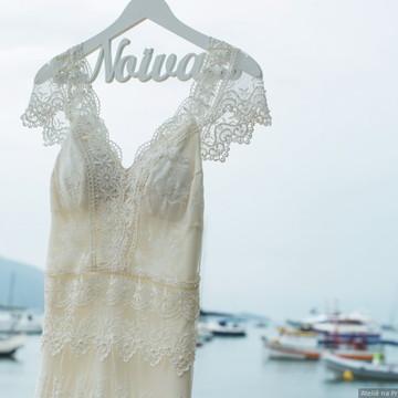 Vestido de noiva boho chic modelo Lilly