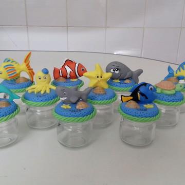 Lembrancinhas fundo do mar aniversario potinhos