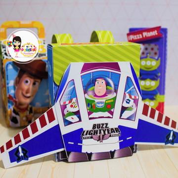 caixa muchila Toy Store pequena