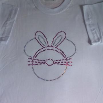 Camiseta Coelhinho com tiara