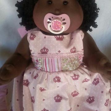 Boneca de pano bebê negra