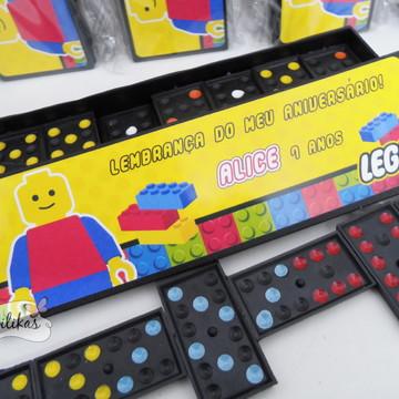 Lembrancinha Lego - Domino personalizado