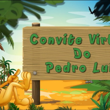 Convite Virtual Animado Tema Safari