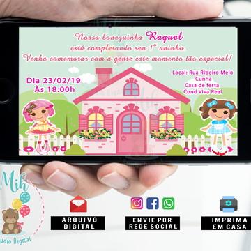 Convite casa de boneca