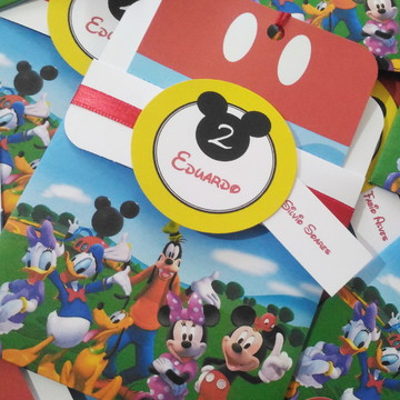 Convite para aniversário infantil Turma do Mickey