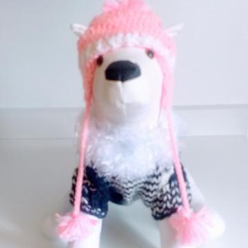 Touca + pulover para o seu Pet