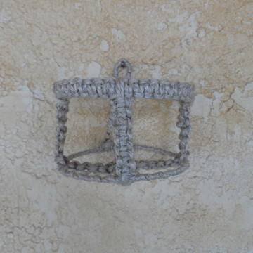Porta Vaso de Parede em Sisal