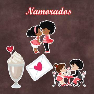 Apliques / Recortes - Dia dos Namorados
