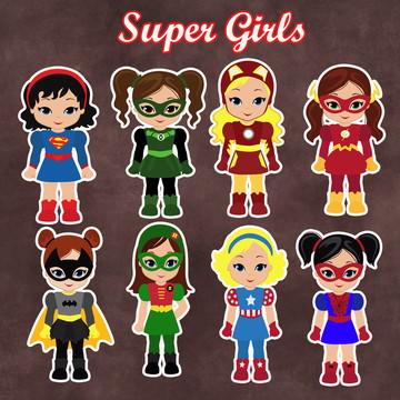 Apliques / Recortes - Super Girls / Heroínas