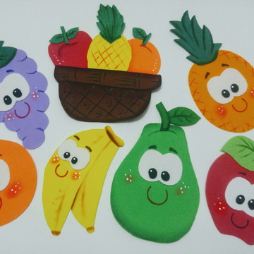 Kit para enfeitar refeitório. Alimentação saudável frutas