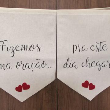 Placas para cadeiras dos noivos