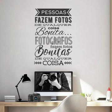 Adesivo de Parede Frase Fotógrafo - Fotografia