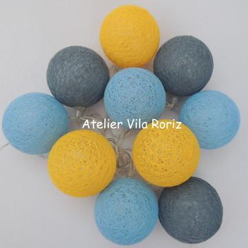 Cordão de Luz Azul, Cinza e Amarelo!!
