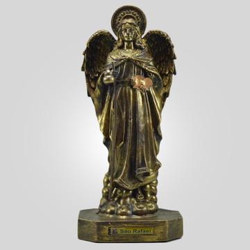 São Rafael na cor Bronze (31 Cm) - Inquebrável