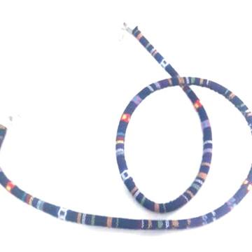 cordão para óculos estampado azul